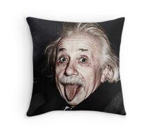 Einstein Colourised Throw Pillow