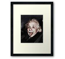 Einstein Colourised Framed Print