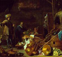 Teniers the Younger, David; Heem, Jan Davidsz de - An Artist in His Studio by Adam Asar