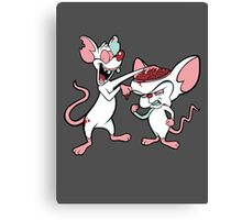 Zombie and the Brain (image only) Canvas Print
