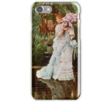 The Bunch of Lilacs (c. 1875), by James Tissot iPhone Case/Skin