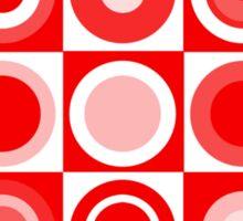 Retro concentric Sticker