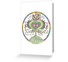 Heart Inspired Tree Greeting Card