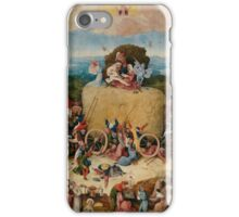 The Hay Wain by Hieronymus Bosch iPhone Case/Skin