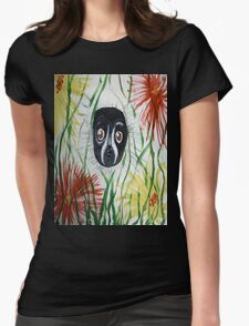 Black and White Ruffed Lemur Womens Fitted T-Shirt