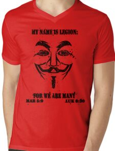 MY NAME IS LEGION Mens V-Neck T-Shirt