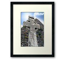 old kerry celtic cross Framed Print
