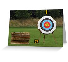 On Target Greeting Card