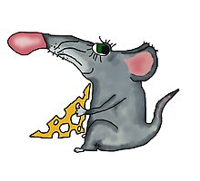 mouse holding cheese Photographic Print