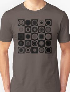 Retro concentric Black Unisex T-Shirt