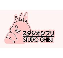 Pink Studio Ghibli Logo Photographic Print