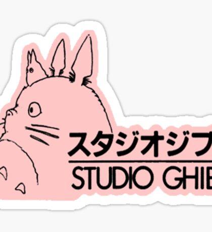 Pink Studio Ghibli Logo Sticker