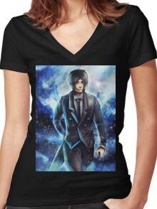 Black Butler: Sebastian  Women's Fitted V-Neck T-Shirt