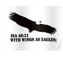 WITH WINGS AS EAGLES Poster