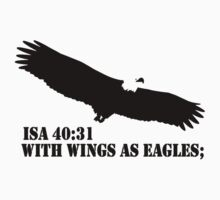 WITH WINGS AS EAGLES Kids Tee