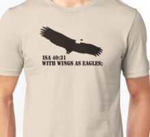 WITH WINGS AS EAGLES Unisex T-Shirt