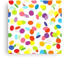 Joyful flying сonfetti on white. Design for a party. Canvas Print