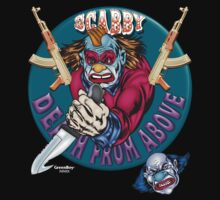 Evil Clown T Shirt AK 47 by bear77