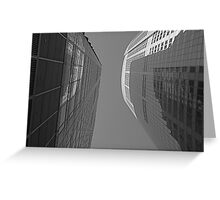 Abstract Building Greeting Card