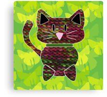 knitty kat Canvas Print
