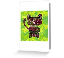 knitty kat Greeting Card