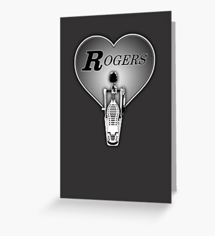 Rogers Drums in Heart Greeting Card