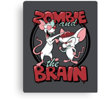 Zombie and the Brain Canvas Print