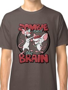 Zombie and the Brain Classic T-Shirt