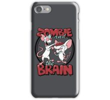 Zombie and the Brain iPhone Case/Skin