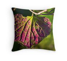 Purple Fan Throw Pillow
