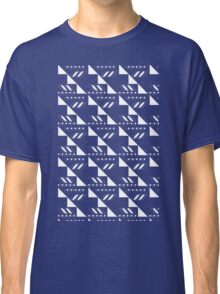 white on blue Classic T-Shirt