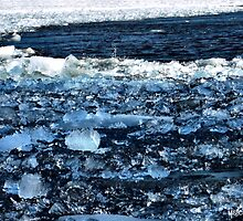 Ottawa River Ice in April by M Sylvia Chaume