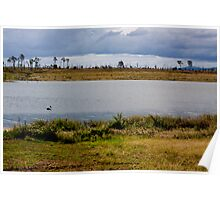 Wivenhoe Dam - with a Pelican Poster