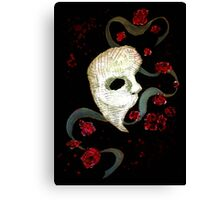 Phantom of the Opera Mask and Roses Canvas Print