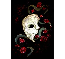 Phantom of the Opera Mask and Roses Photographic Print