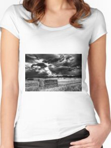 The Late Summer Farm England Women's Fitted Scoop T-Shirt