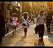 Maids in Ueno, Japan by John Adulcikas