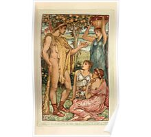 A Wonder Book for Girls and Boys by Nathaniel Hawthorne illustrated by Walter Crane 153 - Hercules and the Nymphs Poster