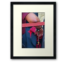 Penitent with rosary Framed Print