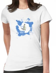 chillen in antartica Womens Fitted T-Shirt