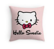 Hello Sweetie Throw Pillow