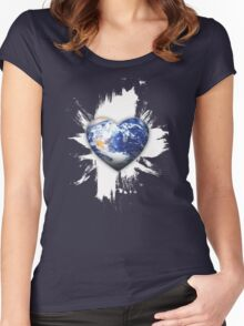 good earth Women's Fitted Scoop T-Shirt