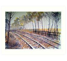 Down the Tracks Art Print