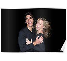 Douglas & Holly Black Background Poster