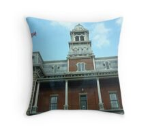 Medina County Court House- Straight Up! Throw Pillow