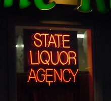 Liquor Store Neon Sign by Bea Godbee