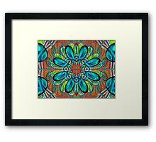 Flowerette Glow Framed Print