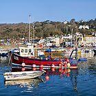 Lyme Regis Harbour Reflections 3 - April by Susie Peek