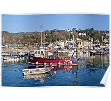 Lyme Regis Harbour Reflections 3 - April Poster