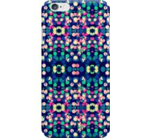 Vibrant Blue Bokeh Kaleidescope Pattern iPhone Case/Skin